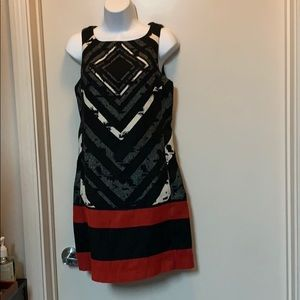 Desigual  Abstract Red and Black, White  Dress